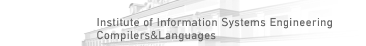 Institute of Information Systems Engineering Compilers&Languages